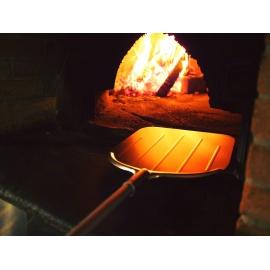 Falci Aluminium steel voor pizzaschep met houten handvat (150cm)