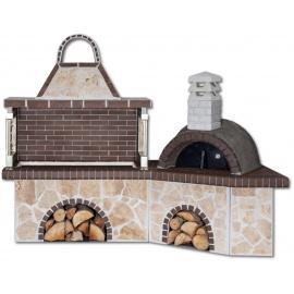 Sxistolithos set BBQ met pizzaoven