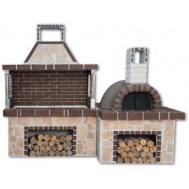 Sxistolithos set BBQ met pizzaoven (vierkant)