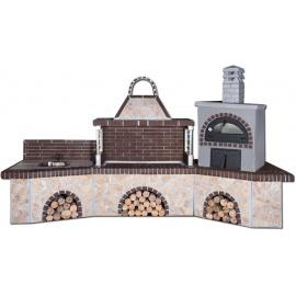 Sxistolithos set BBQ gootsteen houtoven