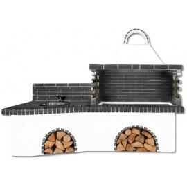 Buitenkeuken set BBQ en gootsteen - Dark Grey Firebrick