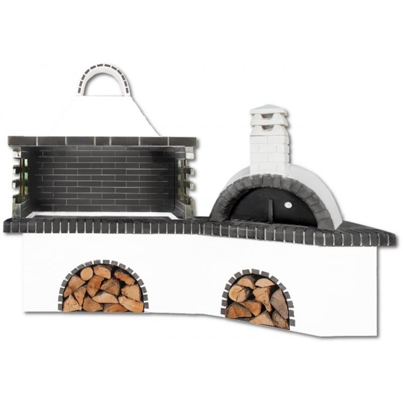 Buitenkeuken set BBQ en pizzaoven - Dark Grey Firebrick