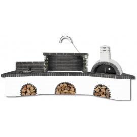 Buitenkeuken set BBQ, gootsteen en pizzaoven - Dark Grey Firebrick