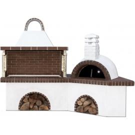 Buitenkeuken set BBQ en pizzaoven - Brown Firebrick
