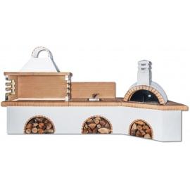 Buitenkeuken set BBQ, gootsteen en pizzaoven - Yellow Firebrick
