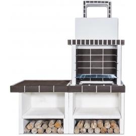 Buitenkeuken set BBQ en aanrecht (modern) - Dark Grey Firebrick