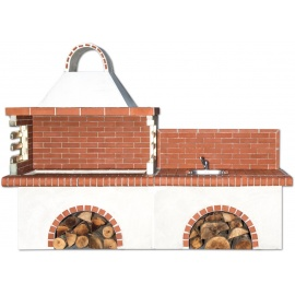 Buitenkeuken set BBQ en gootsteen - Red Firebrick