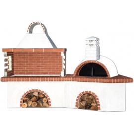 Buitenkeuken set BBQ en pizzaoven - Red Firebrick