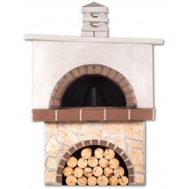 Pizzaoven Sxistolithos Limestone Brown Firebrick Vierkant