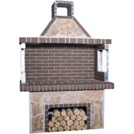 Stenen barbecue Brown Brick - Karystos