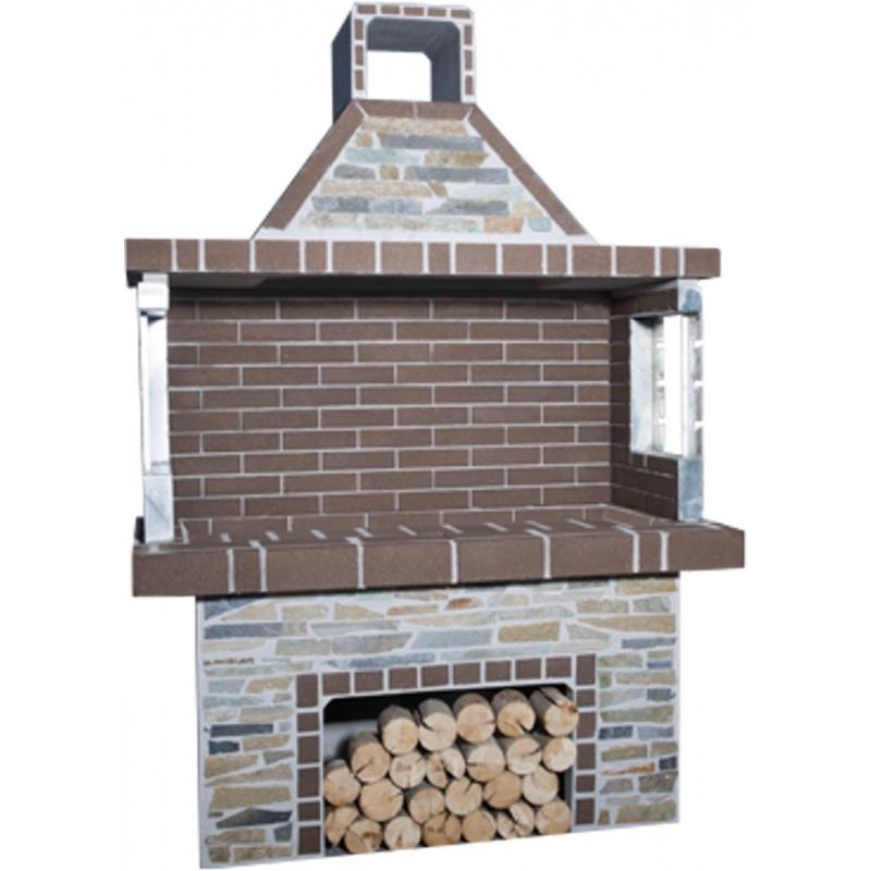 Stenen barbecue Brown Brick - Karystos Stenari