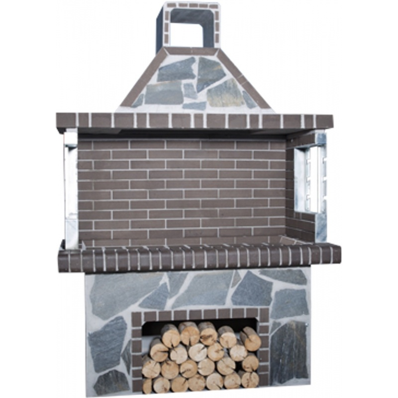 Stenen barbecue Black-Grey Brick - Kavalas