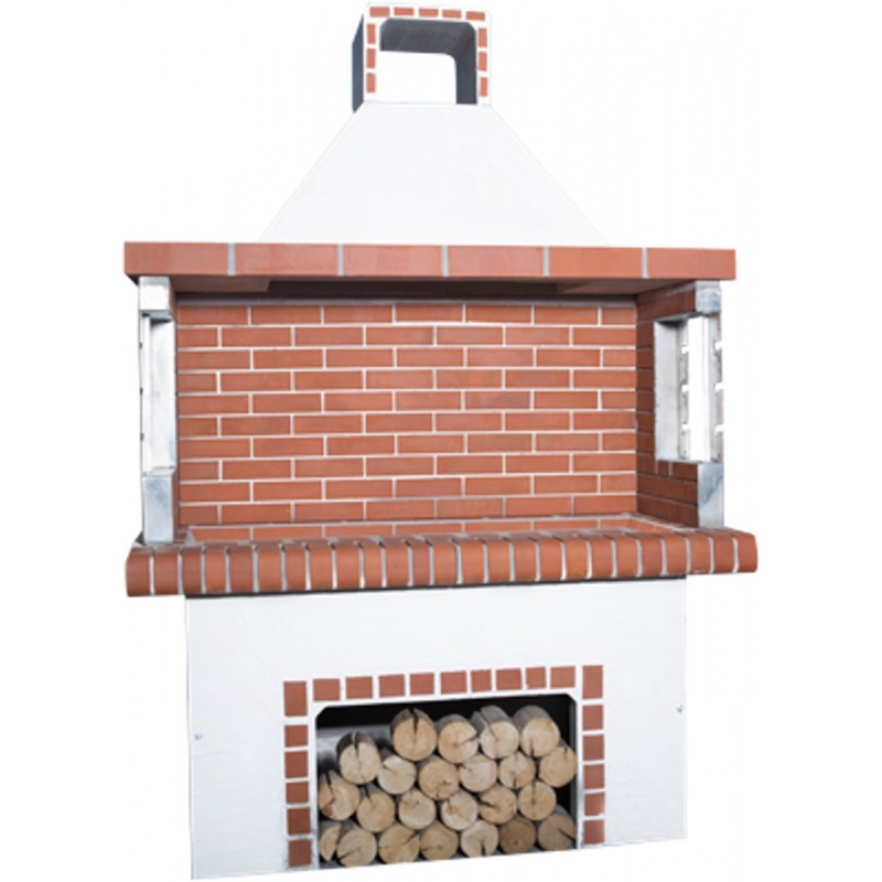Stenen barbecue Red Brick - Wit