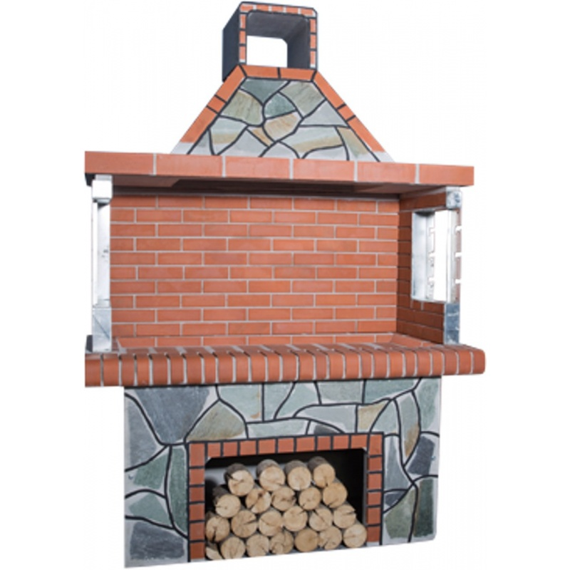 Stenen barbecue Red Brick - Karystos Zwarte Groeven