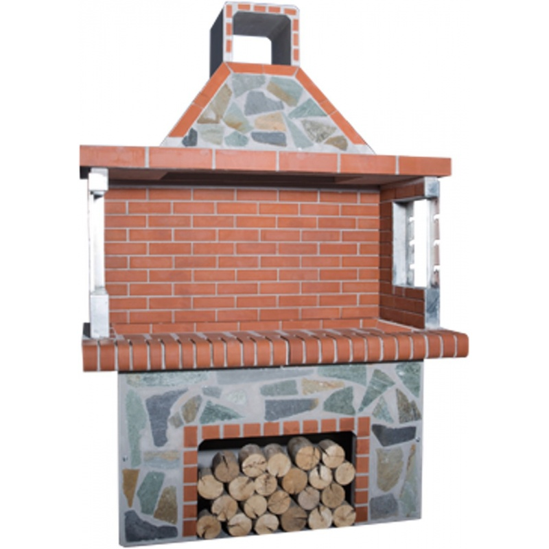 Stenen barbecue Red Brick - Karystos