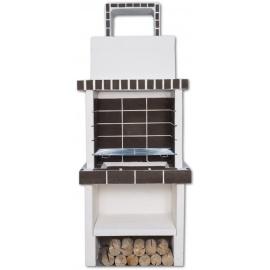 Stenen barbecue Mini 2-grill Brown Brick - Wit
