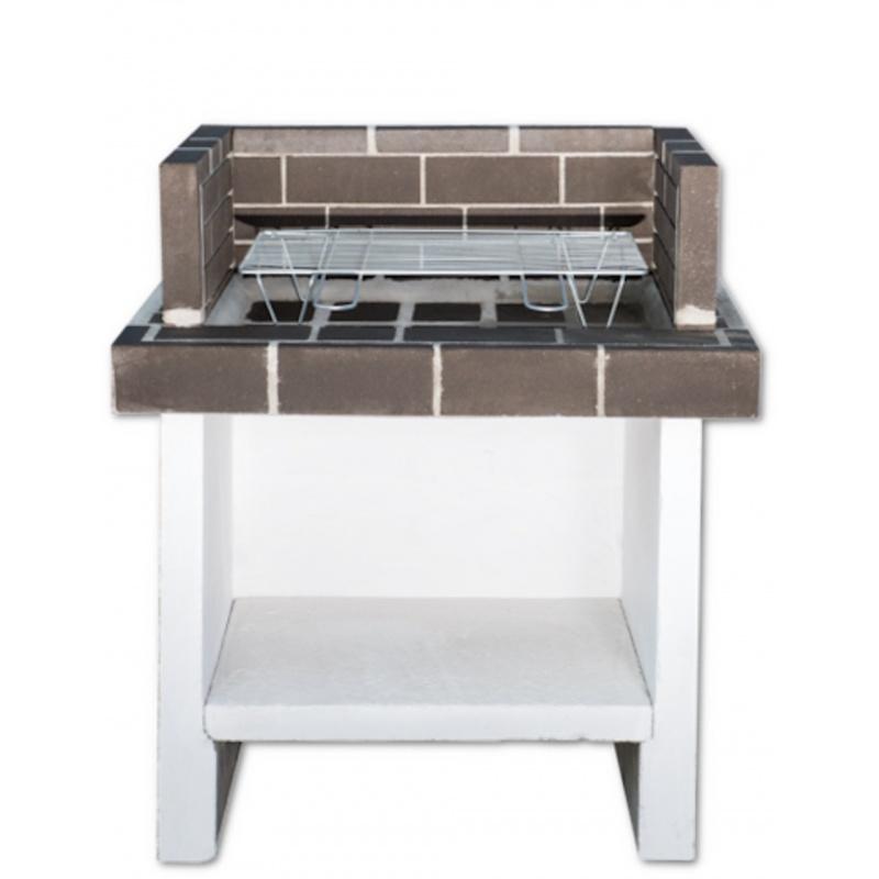 Stenen barbecue Mini Brown Brick - Wit