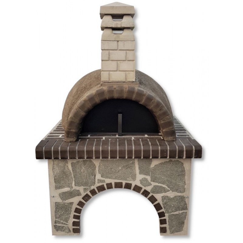 Pizzaoven Sxistolithos Karistos Stone Grey Firebrick Large